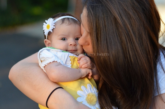 sweet baby and mommy