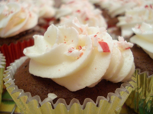 These chocolate peppermint cupcakes are SO good. The cake is made from The Best Chocolate Cake Ever recipe which you can find on our site. Topped with creamy buttercream and crushed candy canes making it a holiday hit.