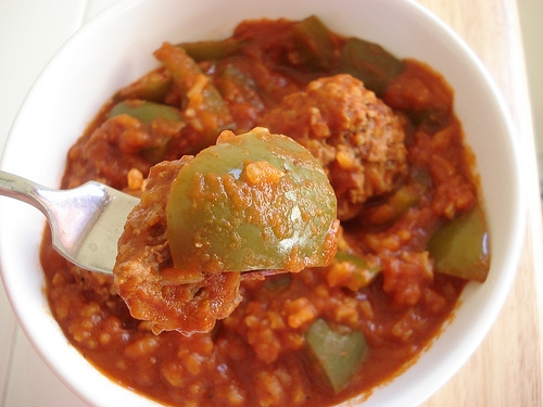 Unstuffed Pepper Meatballs
