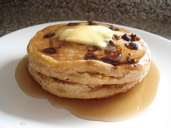 Fiber One Chocolate Chip Pancakes