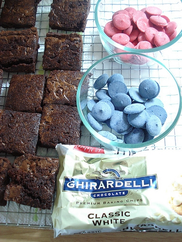 Red White, and Blue Brownies.