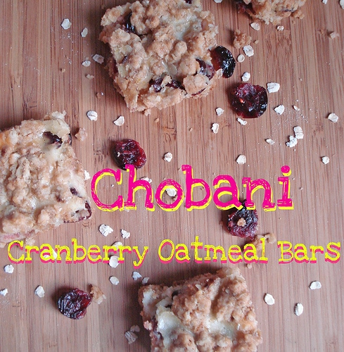 Chobani Cranberry Oatmeal Bars