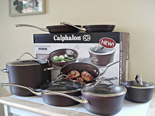calphalon 10piece bronze anodized edition nonstick