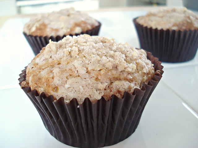 Banana Chocolate Chip Muffins With Streusel Topping