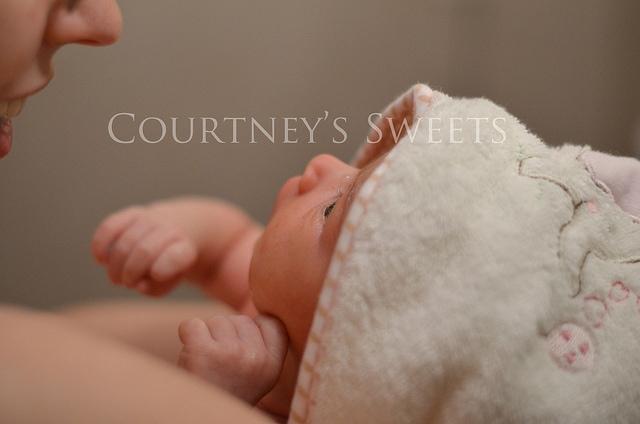 Sweet Baby's First Bath! 8/17/12