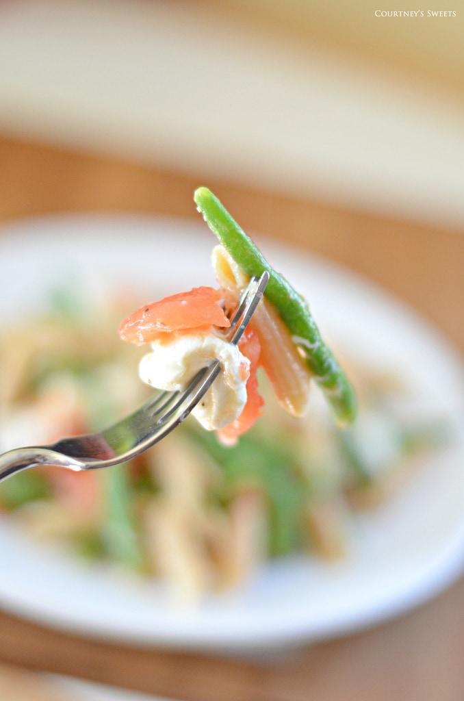Warm Penne Pasta Salad
