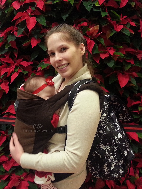 Baby Wearing in the Mall with my LeSportsac Voyager Back Pack!