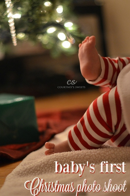 Sweet Baby's First Christmas Photo Shoot, she was getting Merry! www.courtneyssweets.com