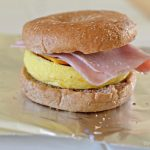 Bagel with Ham and Quiche