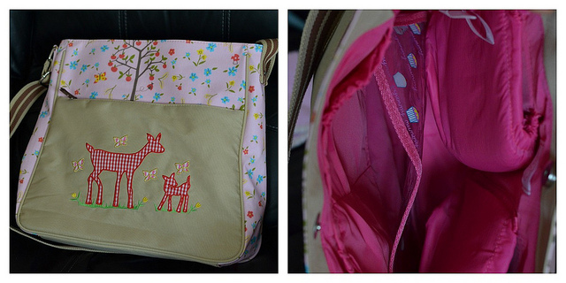 Pink Lining Diaper Bag Review
