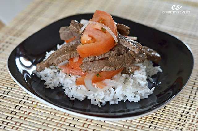 Steak with Tomato and Onions