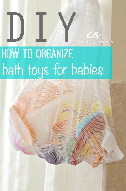 diy how to organize bath toys for babies