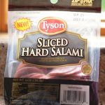 Tyson Salami Bits and Grilled Cheese!