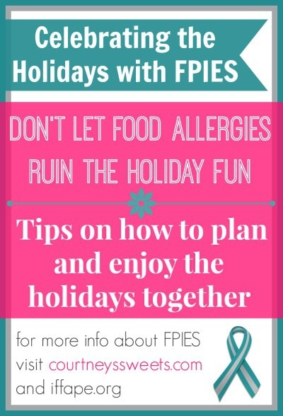 tips on how to plan during the holiday season with food allergies