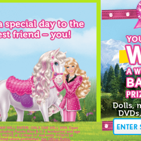 win a barbie prize pack