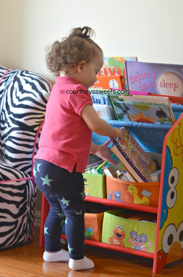 Sesame Street Book and Toy Organizer by Delta Children