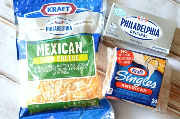 kraft cream cheese kraft singles and kraft mexican cheese for cheese filled burgers with creamy Salsa #SayCheeseburger #shop