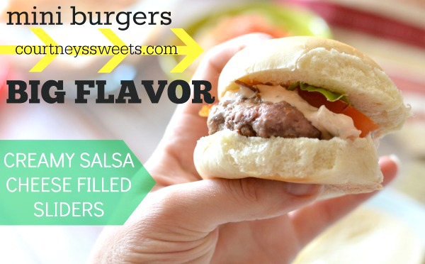 mini burgers big flavor cream salsa cheese filled sliders #SayCheeseburger #shop