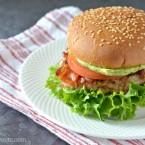 grilled chicken BLT burger bacon lettuce tomato