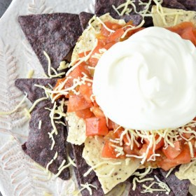 Quick and Easy Nachos - Red, White, and Blue Nachos | 4th of July Recipe