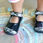 Easy Zebra Print Baby Shoes using Duct Tape