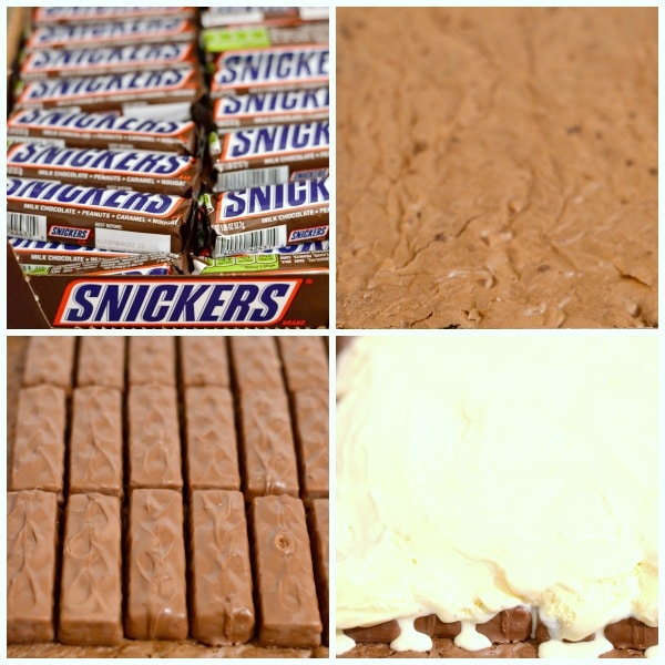Kick Off Ice Cream Snickers Brownies and Tackled By Chocolate Covered Apples Recipe