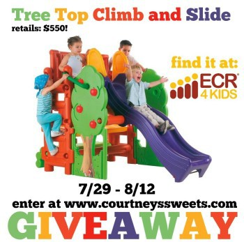 Tree Top Climb and Slide from ECR4Kids - Review & Giveaway