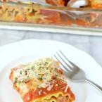 spicy chicken or pork lasagna rollups