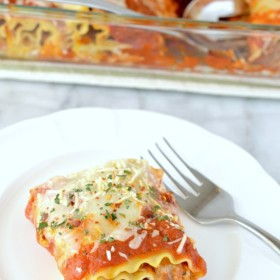 spicy chicken or pork lasagna rollups