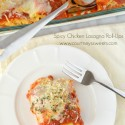 Spicy Chicken Lasagna Roll-Ups Recipe #CookingUpGood #ad