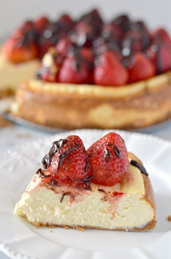 chocolate covered strawberry vanilla bean cheesecake recipe