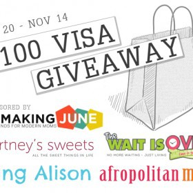 $100 Visa Gift Card Giveaway