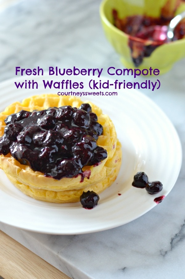 Fresh Blueberry Compote with Waffles #4MoreWaffles #shop 23423423