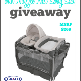 Graco Playard with Nuzzle Nest Sway Seat Giveaway