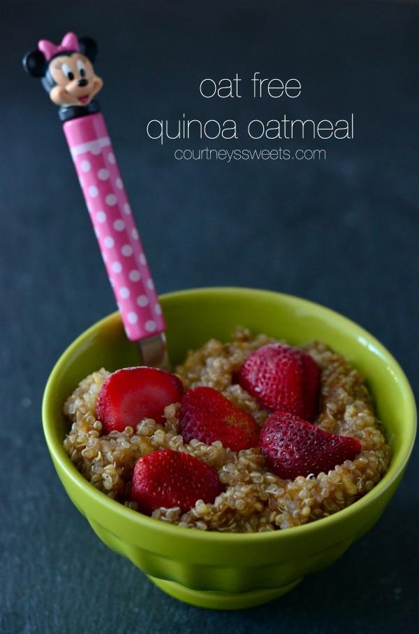 oat free quinoa oatmeal breakfast