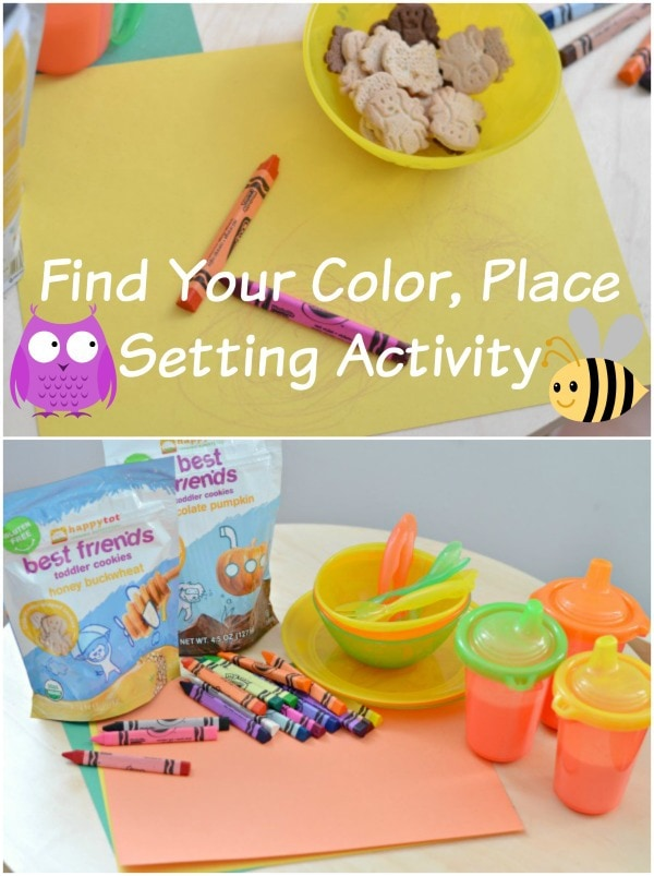Find Your Color, Place Setting Activity for Toddlers