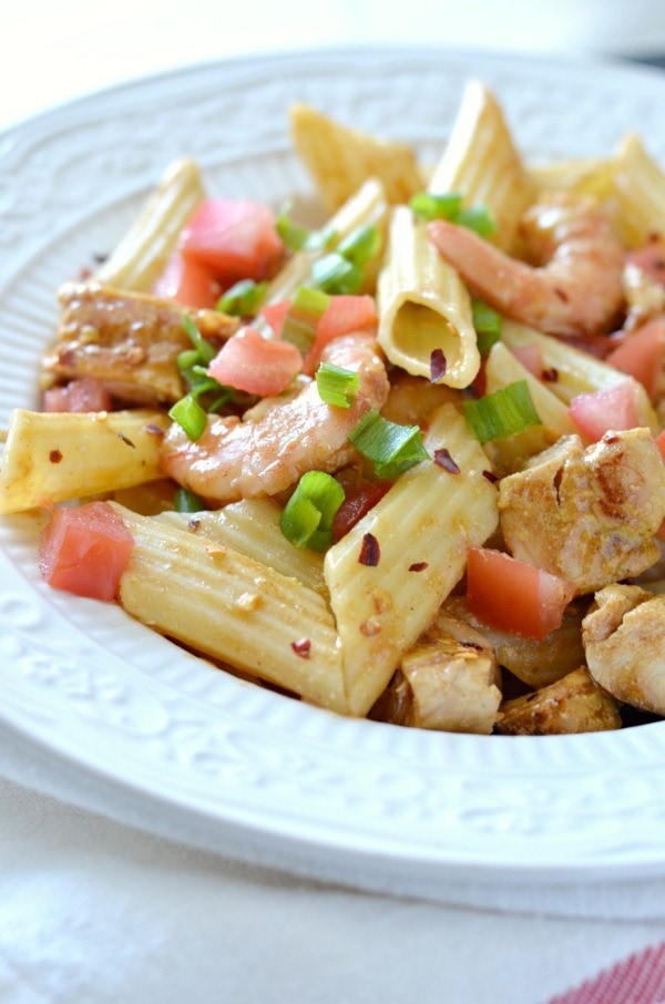 Guy Fieri's Penne with Cajun Chicken and Chipotle Shrimp