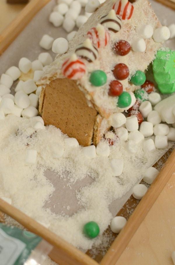 diy gingerbread house snow angel