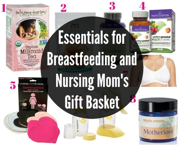 Essentials for Breastfeeding and Nursing Mom's Gift Basket
