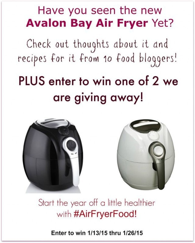 Thanks to air n water for sending us the avalon bay air fryer for