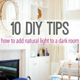 10 diy tips to add natural light to a dark room