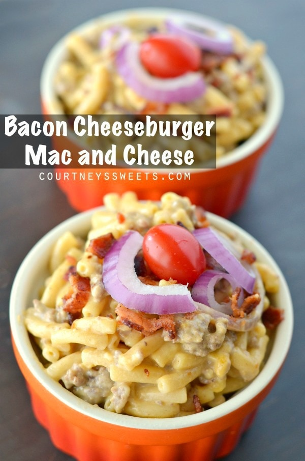 This Bacon Cheeseburger Mac and Cheese recipe #CookingUpSimple #ad is ...