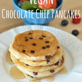 Vegan Chocolate Chip Pancakes Recipe