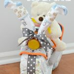 Bicycle Diaper Cake Baby Shower