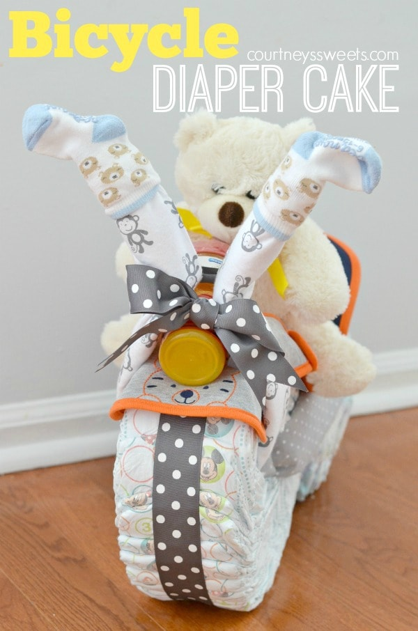 Little Movers Huggies Bicycle Diaper Cake Baby Shower