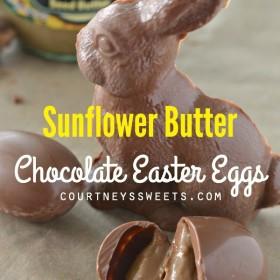 Sunflower Butter Chocolate Easter Eggs