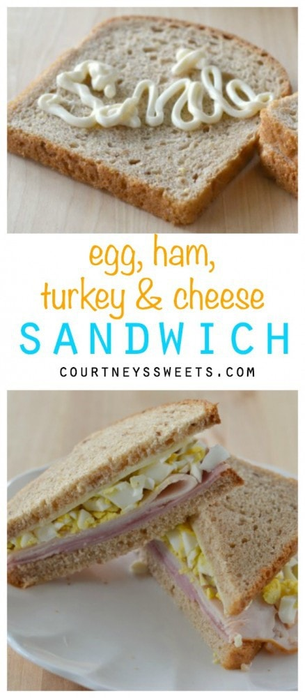 Egg, Ham, Turkey and Cheese Sandwich