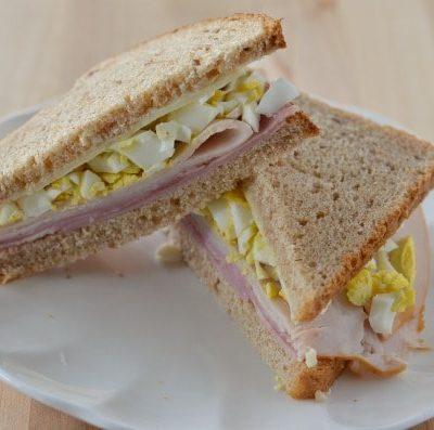 Egg, Ham, Turkey and Cheese Sandwich
