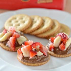 Chocolate Covered Strawberry Banana RITZ® Crackers