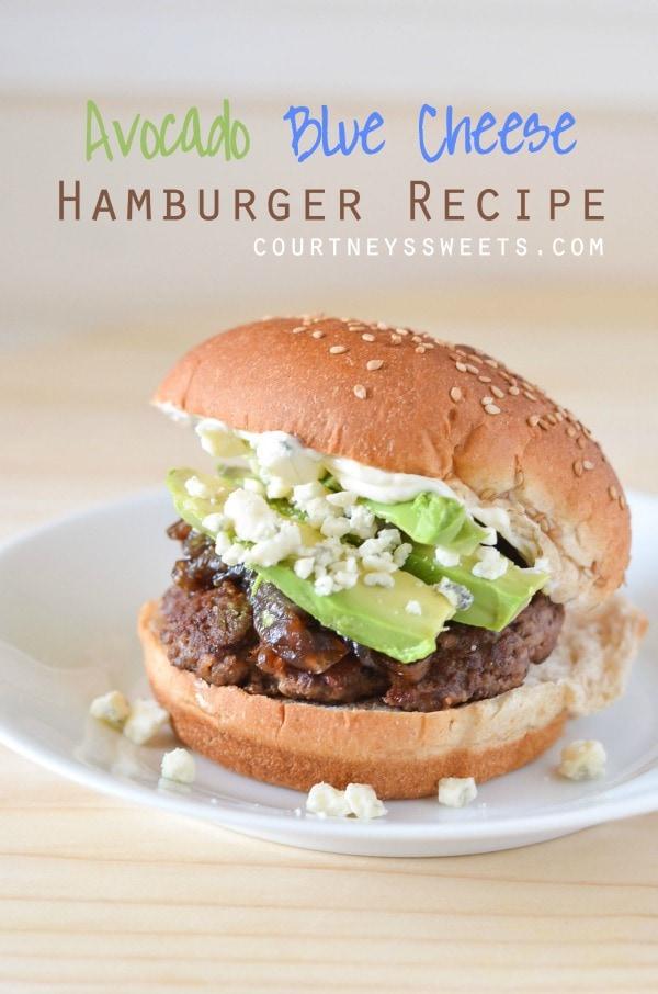 Avocado Blue Cheese Hamburger Recipe